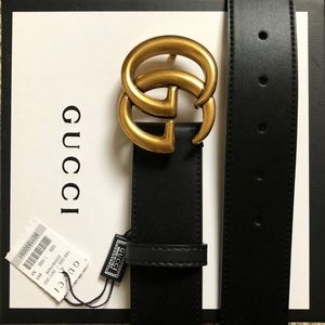 'New Gucci Belt Áuthėntic Double G Marmot WITH BOX